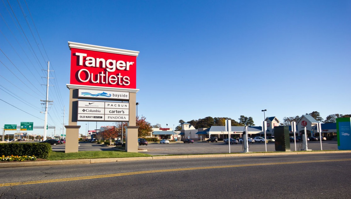 tanger outlets sign from road